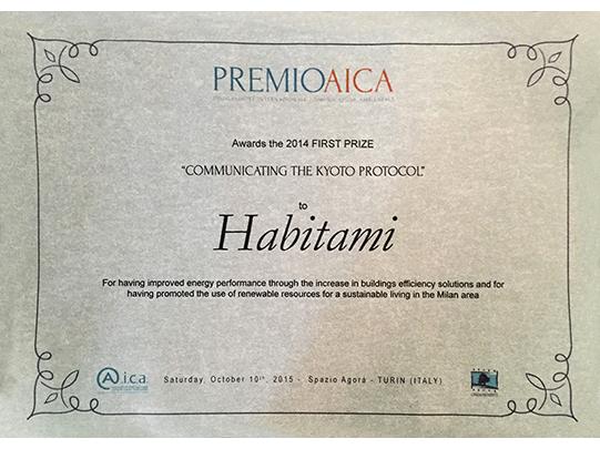 Il Premio internazionale ricevuto da Habitami