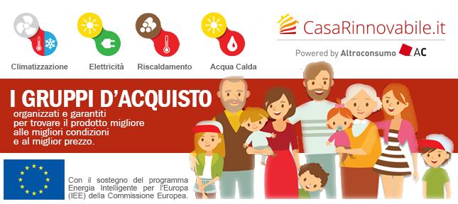 CasaRinnovabile.it, un successo i gruppi d'acquisto di Altroconsumo
