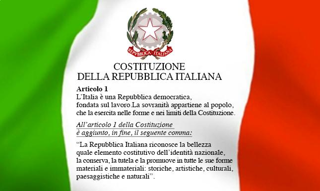 La Bellezza nella Costituzione della Repubblica italiana