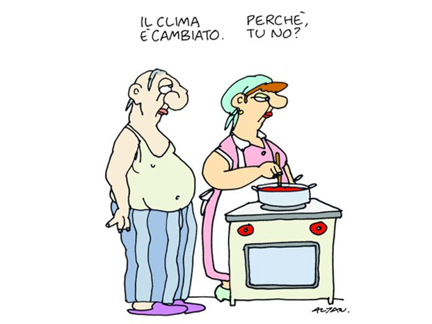 La Vignetta di Altan su le donne italiane e il clima