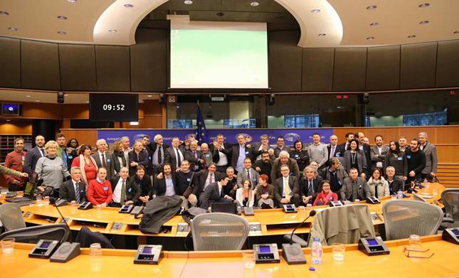 Ambientalisti e Amici di Ecofuturo al parlamento europeo