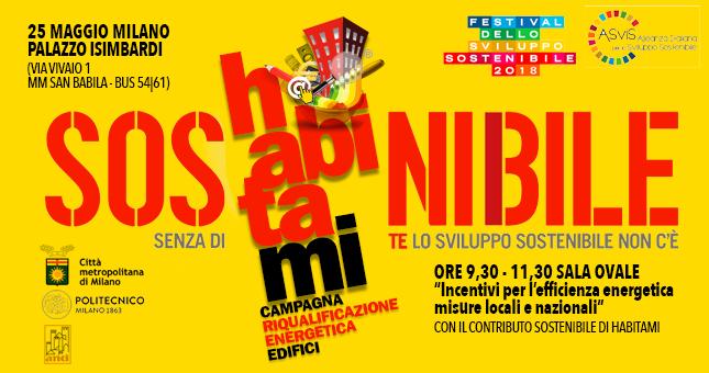 Habitami al Festival dello sviluppo sostenibile il 25 maggio a Milano