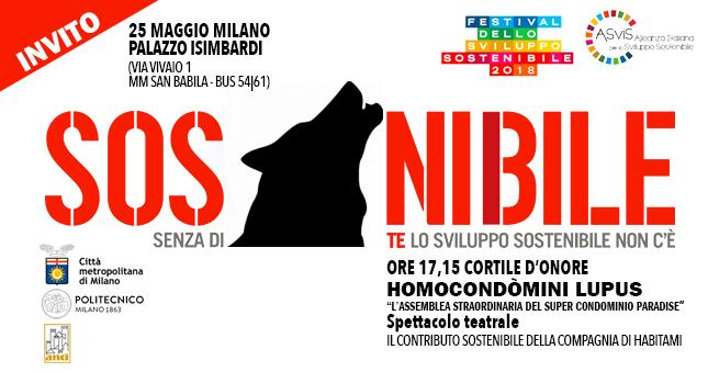 Homo Condòmini Lupus al Festival dello sviluppo sostenibile a Milano