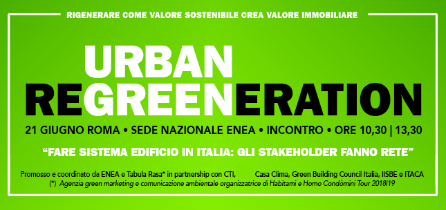Forum Urban Regreeneration: fare sistema edificio, gli stakeholder fanno rete