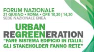 Il 21 giugno a Roma in Enea Forum Nazionale Urban Regreeneration