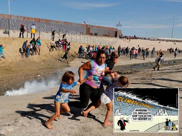 Il muro di Trump tra Usa e Messico e i cambiamenti climatici