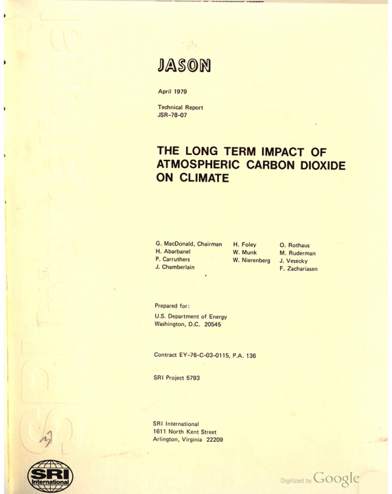 The long term impact of atmospheric carbon dioxide on climate