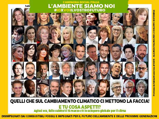 Star internazionali, quelli che ci mettono la faccia sul cambiamento climatico!