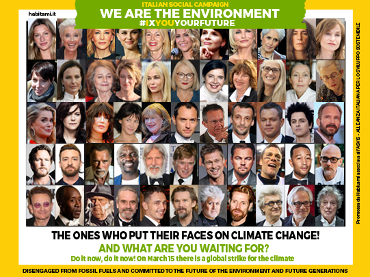 International stars, the ones who put their face on climate change!