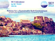 "La Conferenza SBE 19 di Scilla ""Sustainable Built Environment"" è un'evento mondiale sulle Politiche per un ambiente costruito sostenibile"