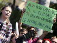 Greta Thunberg alla manifestazione in Italia per il Fridays for future