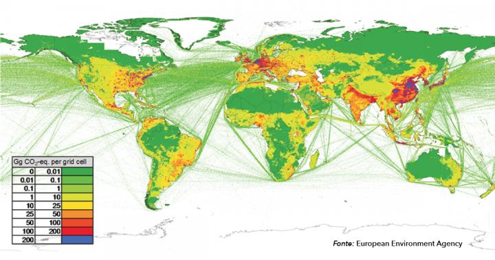 Le emissioni di gas serra nel mondo - 2019